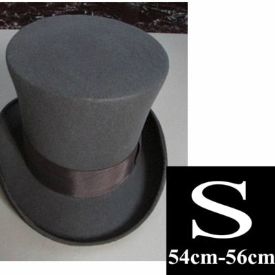High Top Hat For Men in Wool