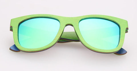 Image of Skateboard Wood Sunglasses