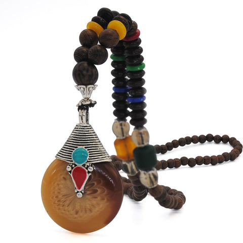 Nepal Wood Beads Necklace