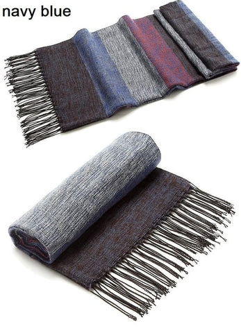 Striped Wool Winter Scarf