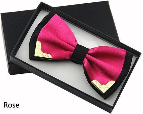 Luxury Boutique Fashion Metal Bow Tie