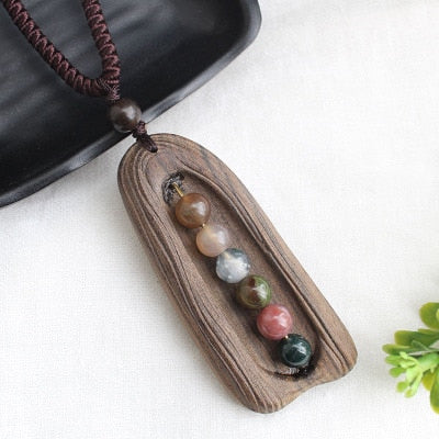 Handmade Vintage Resin Wood Necklaces