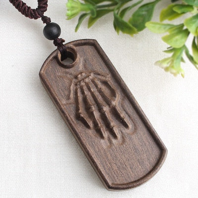 Image of Handmade Vintage Resin Wood Necklaces