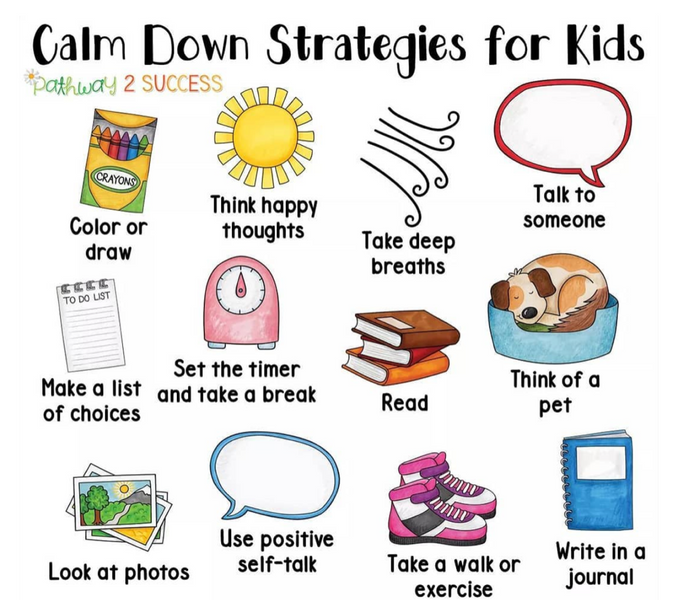 How to calm down kids