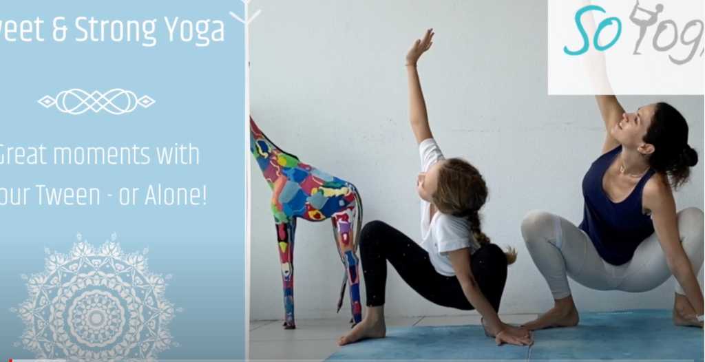 Sweet & Strong Yoga class for you and your kid - free on youtube!