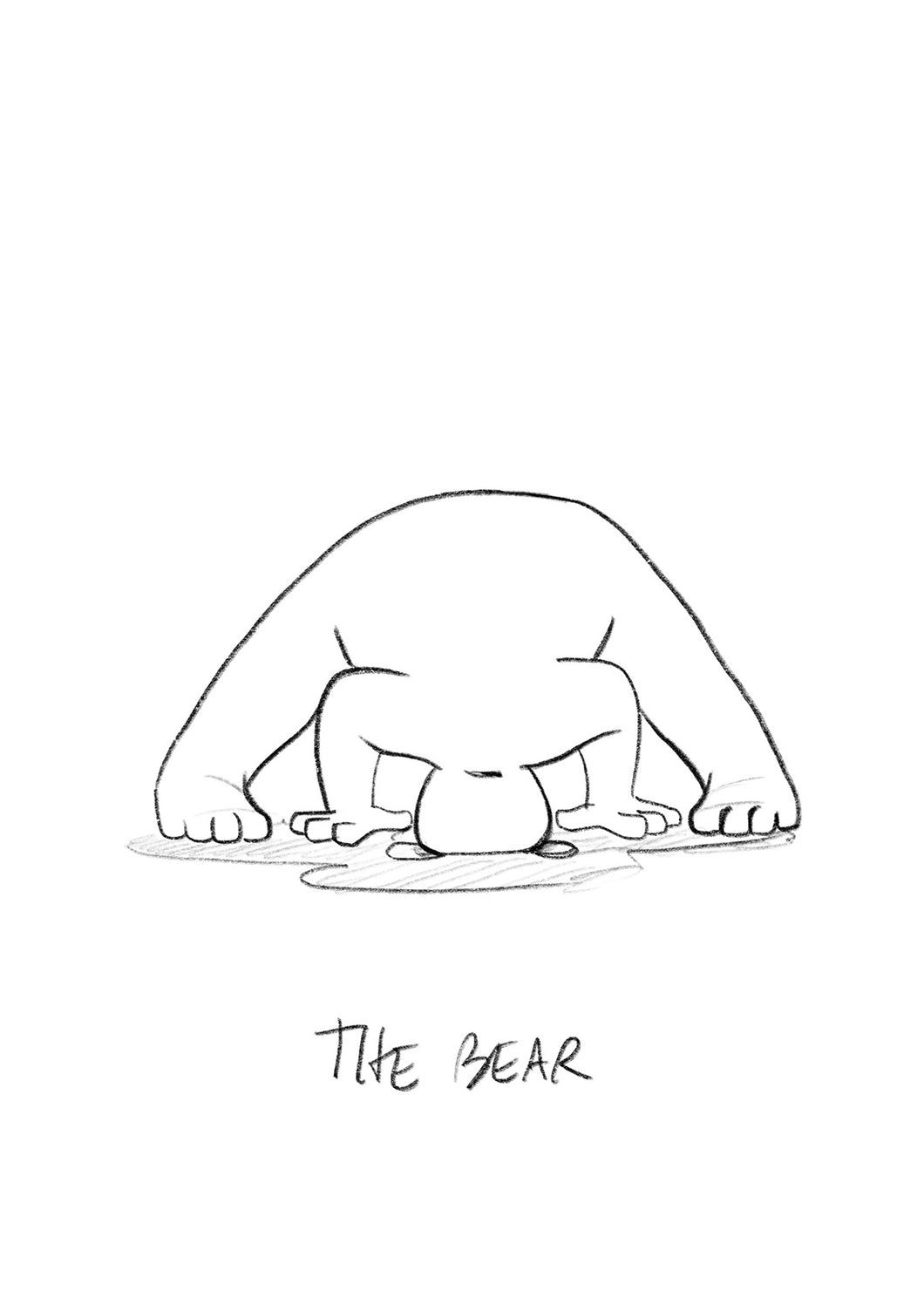 The Yogi - Bear Drawing