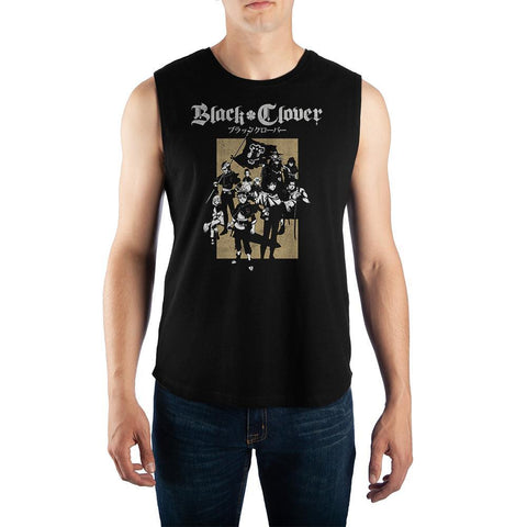 Black-Clover-Anime-Mens-Graphic-Muscle-Tank - The Hollywood Apparel