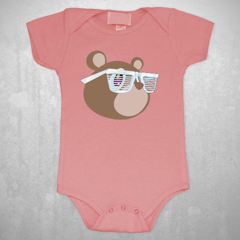 KANYE WEST BEAR - INFANT PINK ONESIE - The Hollywood Apparel
