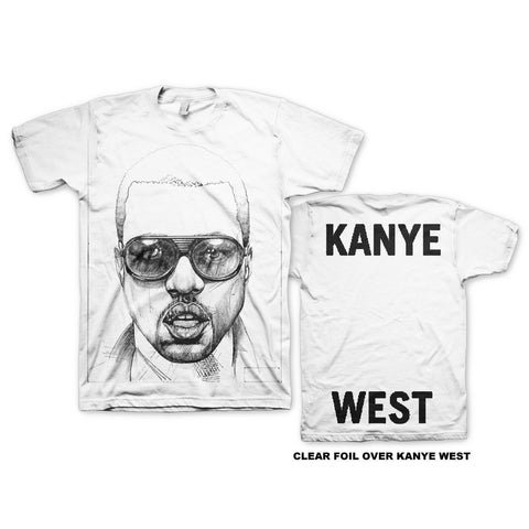 KANYE WEST INK SKETCH T-SHIRT - The Hollywood Apparel