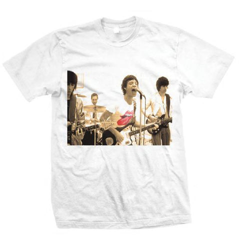 ROLLING STONES GROUP PHOTO - MENS WHITE T-SHIRT - The Hollywood Apparel
