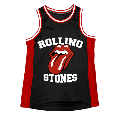 ROLLING STONES | TONGUE LOGO BASKETBALL JERSEY - The Hollywood Apparel