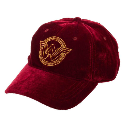 Velvet Hat w/ Wonder Woman Logo - The Hollywood Apparel