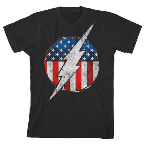 Youth Boys Flash TShirt Flash Symbol Red White and Blue Shirt - The Hollywood Apparel