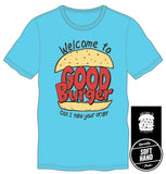 Welcome To Good Burger Home Of The Good Burger Men's Blue T-Shirt - The Hollywood Apparel