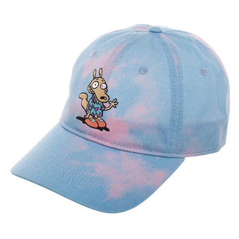 Rocko's Modern Life Tie Dye Embroidery Dad Hat - The Hollywood Apparel