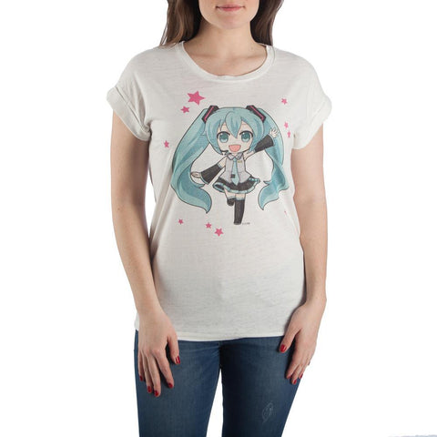 Hatsune Miku Anime Apparel Girls Juniors Graphic Tee - The Hollywood Apparel