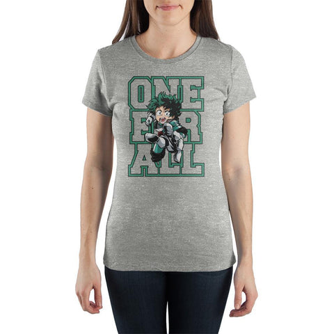 My Hero Academia One For All TShirt Juniors Graphic Tee - The Hollywood Apparel