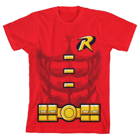 Boys Youth Robin Shirt DC Comics Apparel - The Hollywood Apparel
