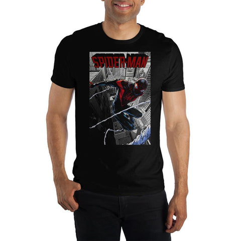 Spider-Man Miles Morales City Swing Shirt - The Hollywood Apparel