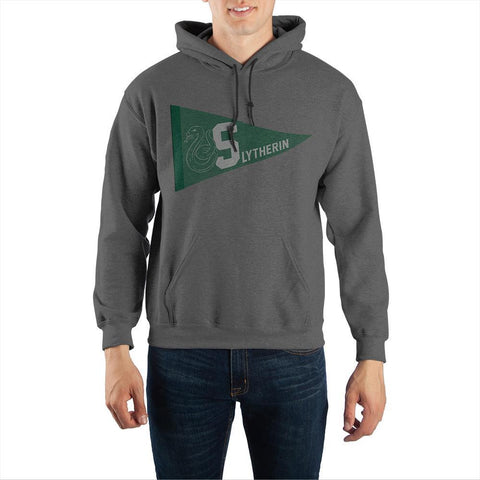 Harry Potter Slytherin Pennant Pullover Hooded Sweatshirt - The Hollywood Apparel