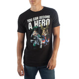 My Hero Academia Become A Hero T-Shirt - The Hollywood Apparel