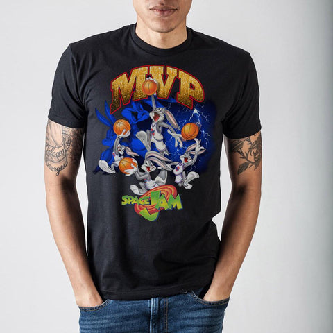 Space Jam Bugs MVP Black T-Shirt - The Hollywood Apparel