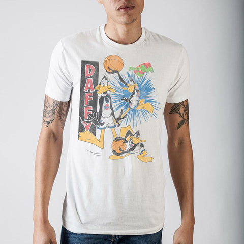 Space Jam Daffy White T-Shirt - The Hollywood Apparel