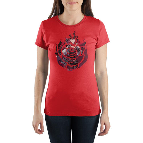Ruby Rose RWBY Juniors Graphic Tee Anime Apparel - The Hollywood Apparel