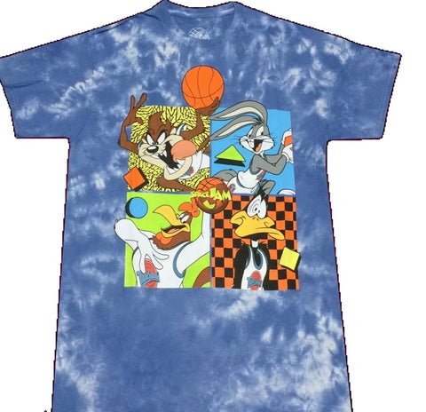 Space Jam Tie Dye Tune Squad Shirt - The Hollywood Apparel
