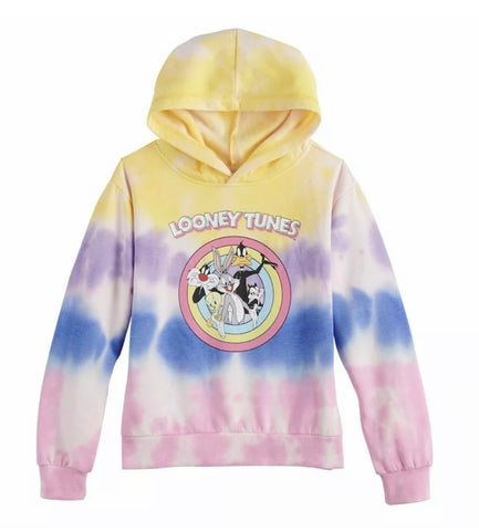 Looney Tunes Pastel Tie Dye Hoodie - The Hollywood Apparel