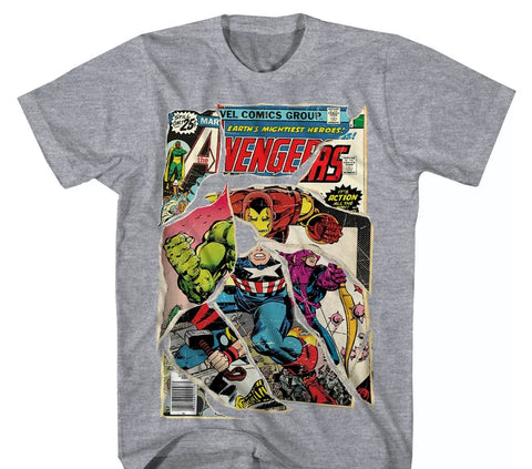 Avengers Vintage Comic Book Cover T Shirt - The Hollywood Apparel