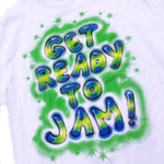 Space Jam Fours Air Brush T Shirt - The Hollywood Apparel