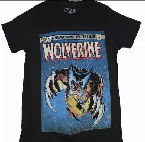 Marvel Comics Limited Series Wolverine Claws Out Men's Black T-Shirt Tee Shirt - The Hollywood Apparel