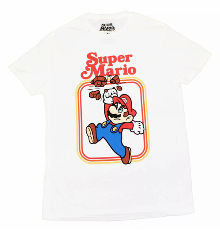 Vintage Mario Punch Bricks Shirt - The Hollywood Apparel