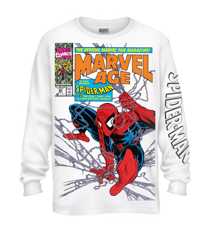 Spider-Man Marvel Fan Mag Long Sleeve Shirt - The Hollywood Apparel
