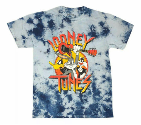 Looney Tunes Rock n Roll Tie Dye Shirt - The Hollywood Apparel