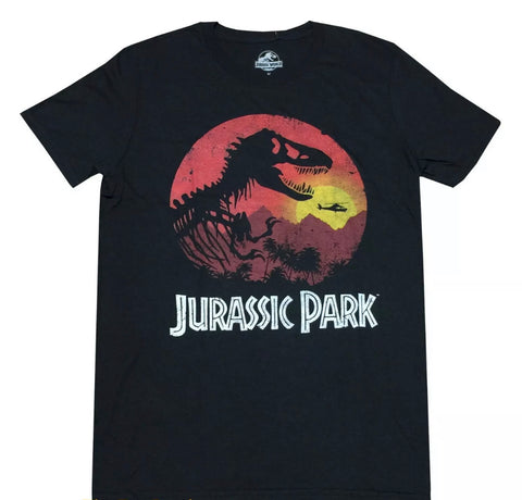 Jurassic Park Vintage Sunset T Shirt - The Hollywood Apparel