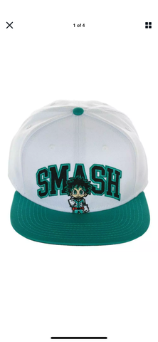 Izuku Midoriya Smash Snapback Hat - The Hollywood Apparel