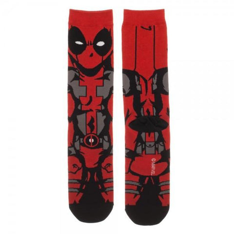 Marvel Comics Deadpool 360 Crew Socks - The Hollywood Apparel