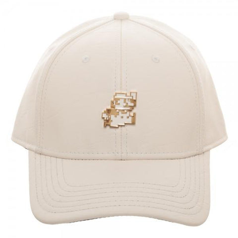 Leather Mario Metal Dad Hat - The Hollywood Apparel