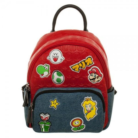 Super Mario Brothers Patches Juniors Mini Handbag - The Hollywood Apparel