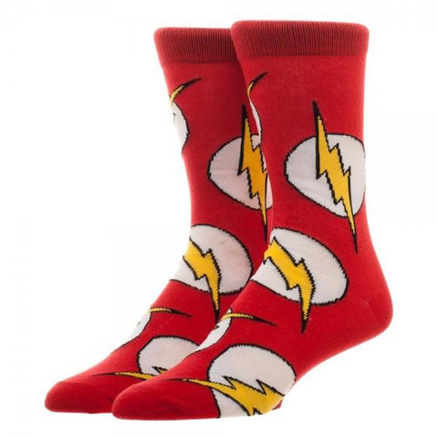 DC Comics Flash Large All Over Print Crew Socks - The Hollywood Apparel