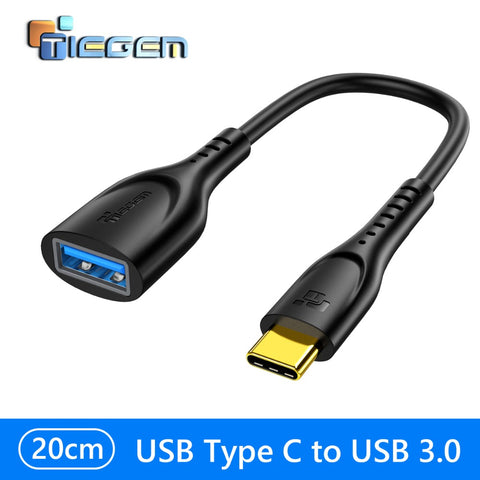 TIEGEM USB Type-C to USB OTG Adapter Cable (20 cm) - TIEGEM