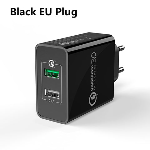 TIEGEM USB Charger 2-Port Power Adapter EU/US Plug - TIEGEM