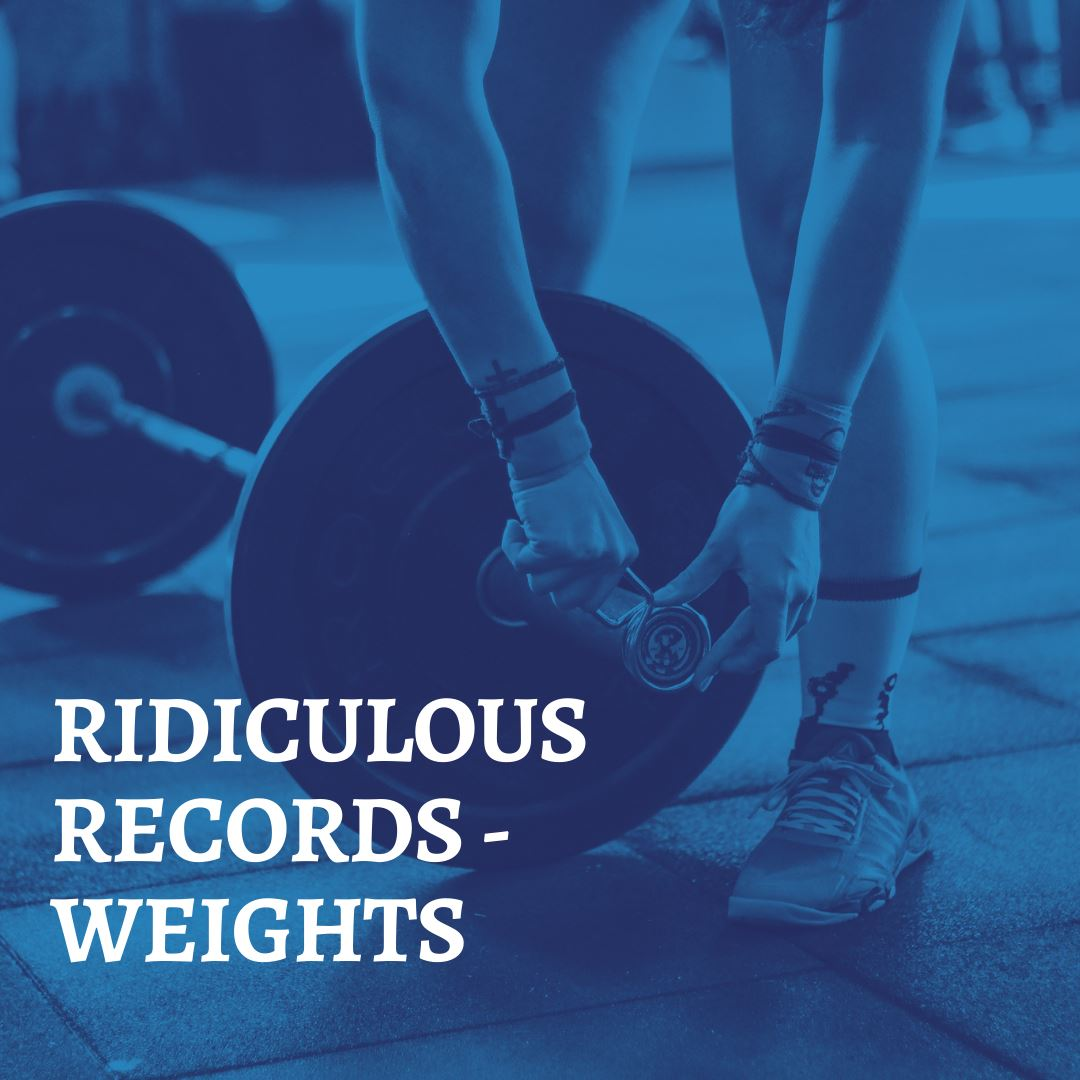 RIDICULOUS RECORDS - WEIGHTLIFTING