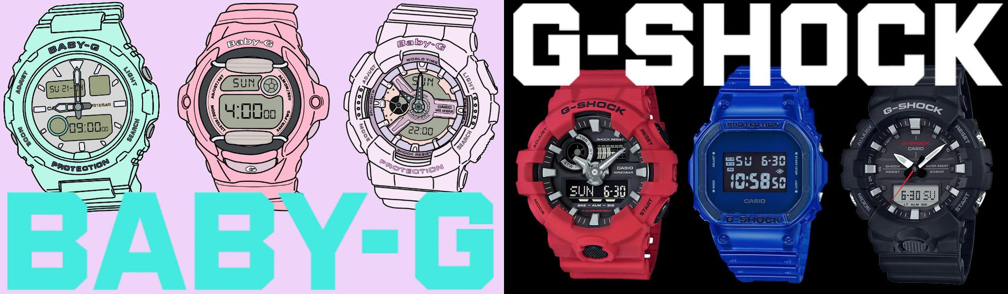 Casio Watches G-Shock and Baby-G