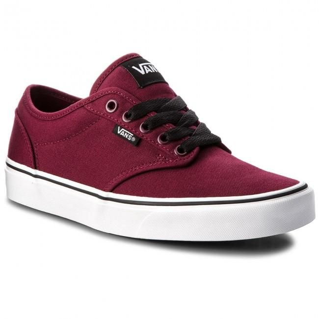 Vans Men's Atwood Canvas Shoes - Ox Blood/White
