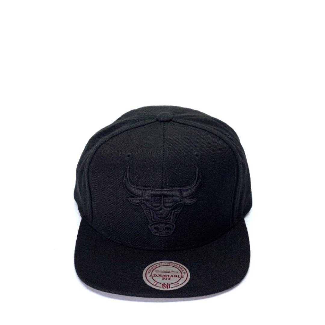 212c6953c Mitchell & Ness All Black Logo High Crown - Chicago Bulls