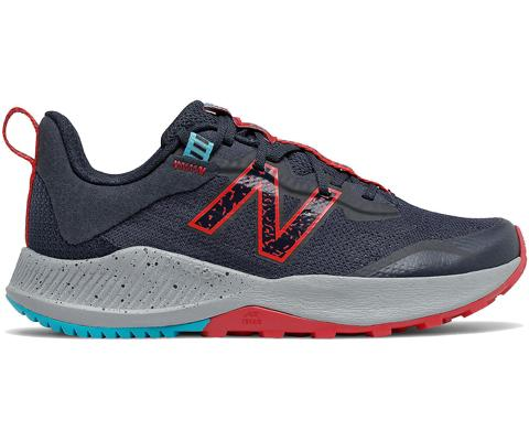 New Balance Kid's Nitrel v4 Running Shoe - Eclipse/Red SP-Footwear-Kids New Balance