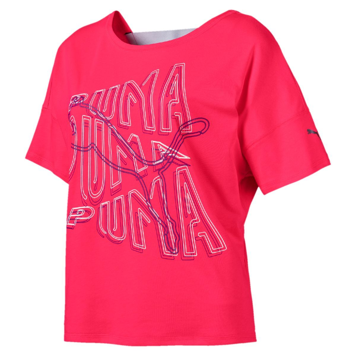 Puma HIT Feel It Tee - Nrgy Rose SP-ApparelTees-Womens Puma